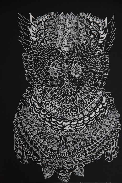 Bianco su nero la casetta delle pesche for Disegni bianco e nero tumblr